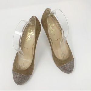 "Butter Sequin Toe  4"" Heels Made in Italy"